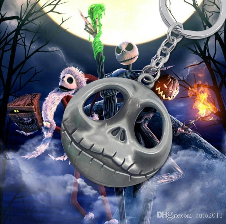 Hot Film Movie Nightmare Before Christmas Jack Skulls Cell Phone Straps Charms Kawaii Smile Car Key Chain 1 pc