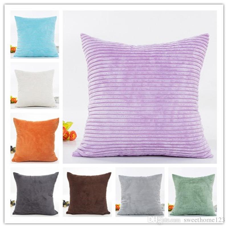 New Arrival 14 Kolory Sztrukloy Pure Color Color New Home Tekstylia Sofa Throw Pillow Case Solid Poszewka