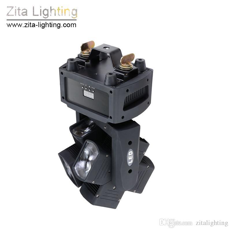 Zita Lighting Moving Head Lights LED Rotating Double Wheel RGBW 8X10W 4In1 Moving Beam Stage Lighting DMX512 DJ Disco Party Pub Light Effect