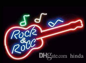 Nowy Rock and Roll Neon Piwo Sign Bar Sign Real Glass Neon Light Beer Sign New Beer Neon 17x14 cali