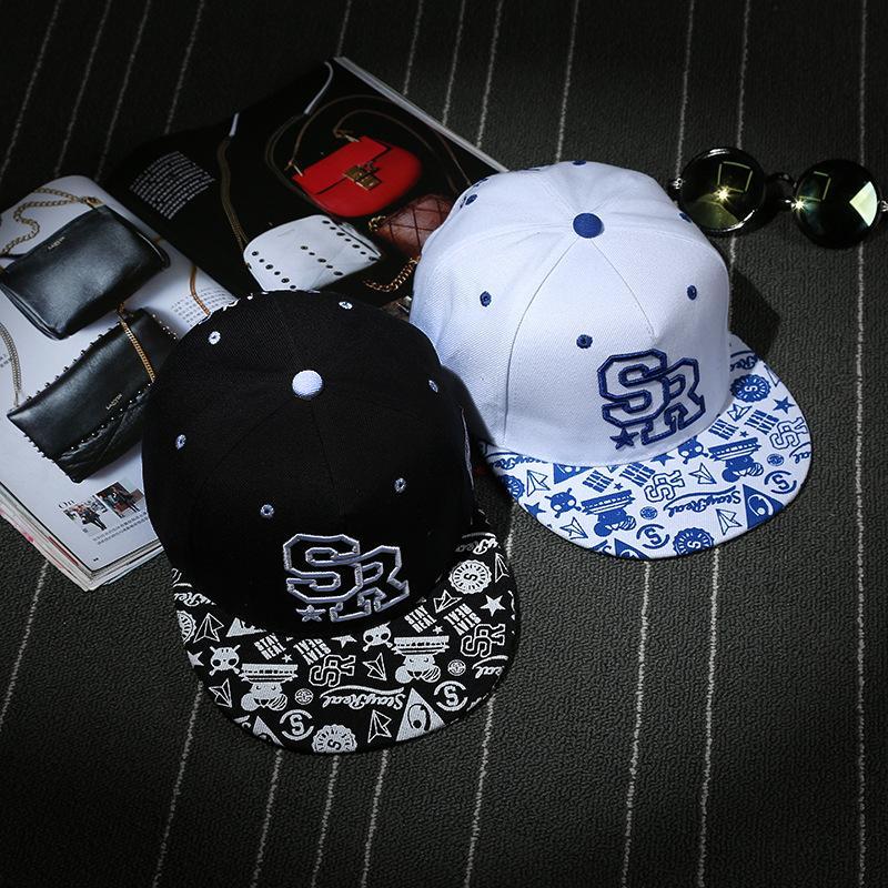 2018 nueva gorra de béisbol femenina de la pareja coreana letra del casquillo del hip-hop SR sombrero casual de la moda sombreros al aire libre