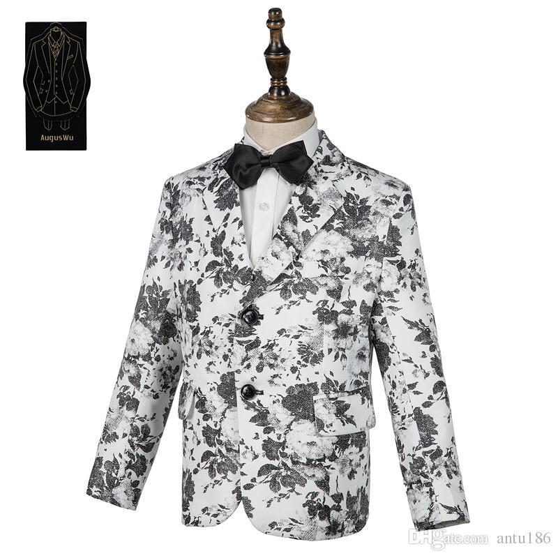 Yeni popüler jakarlı erkek takım elbise üç parçalı takım (ceket + pantolon + yelek) erkek resmi parti balo destek özel