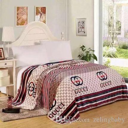 Startseite Bett Decke Herbst und Winter arbeiten Buchstaben Wolke Teppich bequeme weiche Klimaanlage Decke Sofa 150 * 200cm
