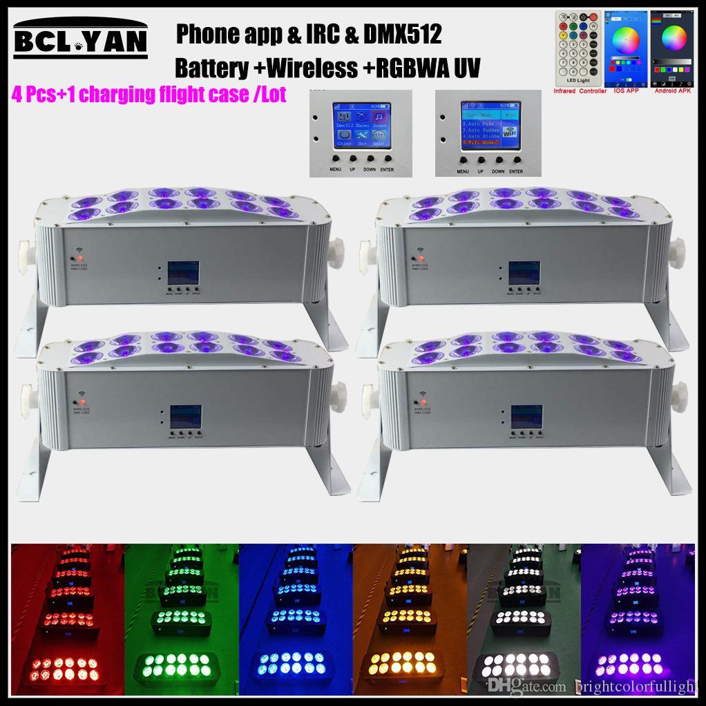 Good price Led Wash Light 12x18W RGBWA UV Wireless dmx Battery Led Wall Washer Bar DJ DMX Stage Light with WIFI Phone remote