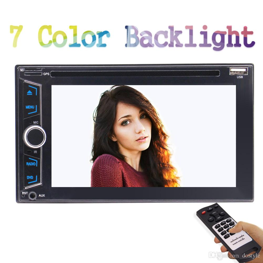 6.2'' 2 Din Car Audio Stereo Head Unit Car DVD Player In Dash Car Radio RDS Video MP3 Player AUX Input Subwoofer