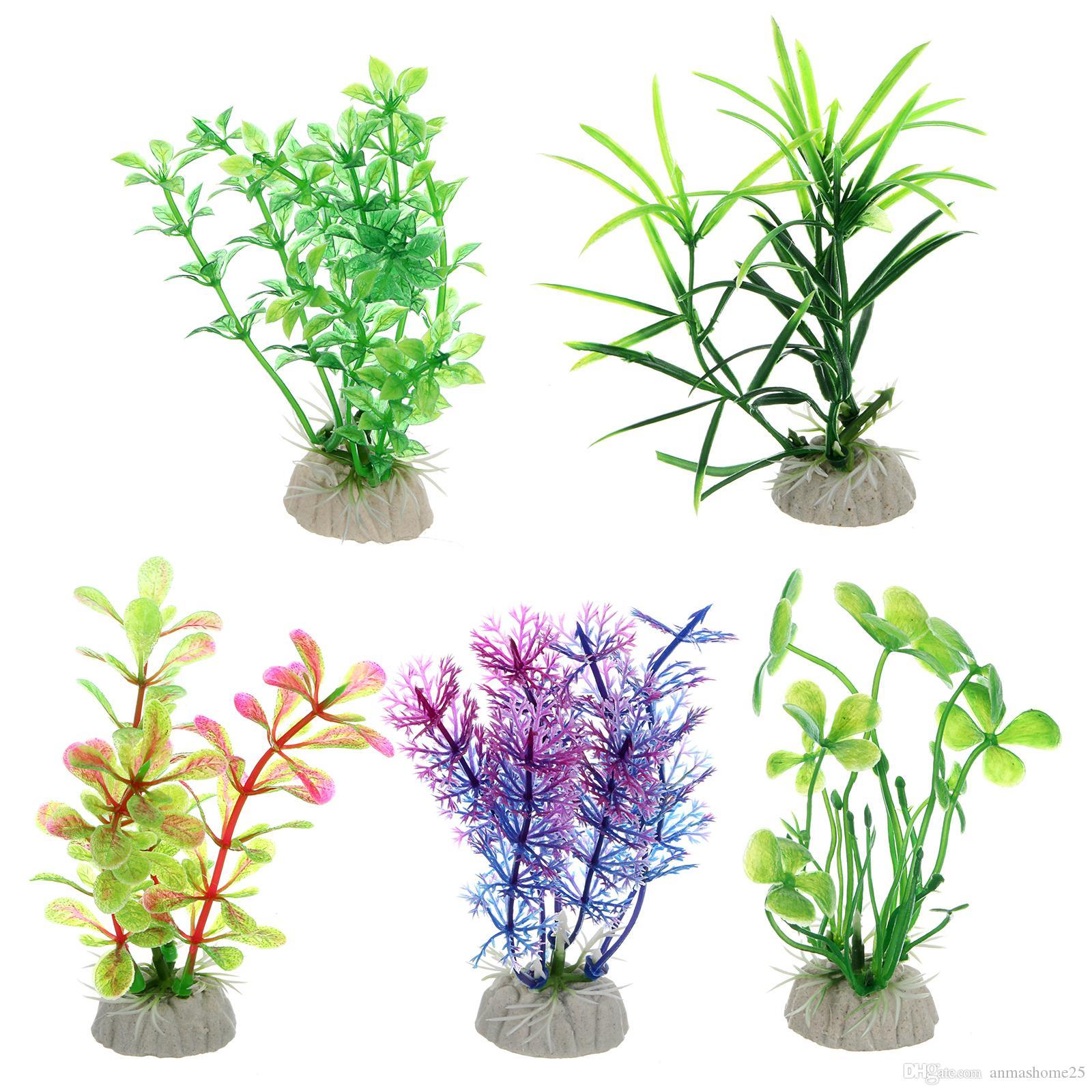 Nouveau gros !!!! Lots 30 PCS Artifical Vert Herbe D'eau Mauvaises Herbes Ornement Sous-Marin Plante Fish Tank Décoration Aquarium