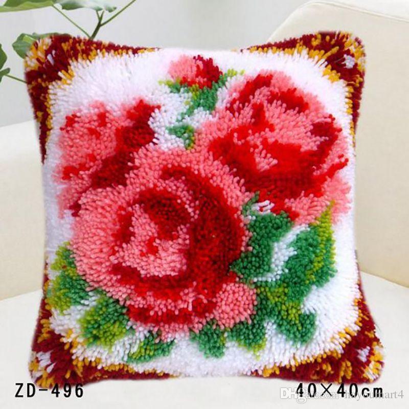Moda Çiçekler Baskılı 3D Yatak Dekorasyon Çiçekler Ve Bitkiler Desen Yastık Minder Örtüsü Yatak Malzemeleri Tamamlanmamış Diy Hediyeler