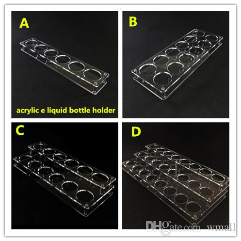 60ml E Liquid Bottle Display Racks Ecig Clear Acrylic Display Stands Showcase Holder For 60ml Eliquid Ejuice E-juice Bottles Show Shelf Case