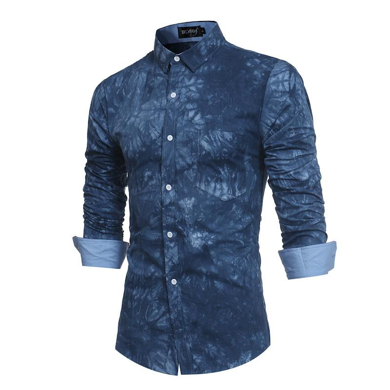 Compre Nueva Llegada Camisa De Vestir De Los Hombres Camisa De Vestir Para Hombre Camisas De Algodón Mezcla De Manga Larga Un Solo Pecho Collar