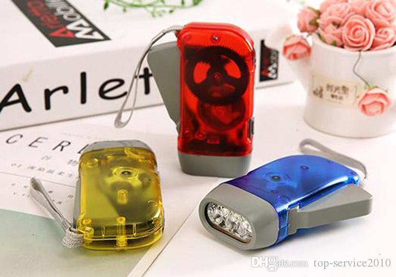手動自己給電懐中電灯手圧力タイプライト懐中電灯小型自己充電スモール懐中電灯3LED屋外製品