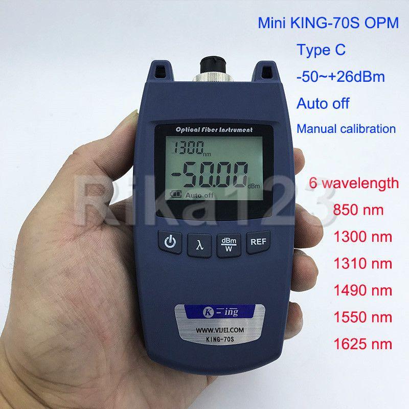 FTTH Mini KING-70S Typ C OPM Optischer Leistungsmesser Faseroptisches Kabel Tester -50dBm ~ + 26dBm