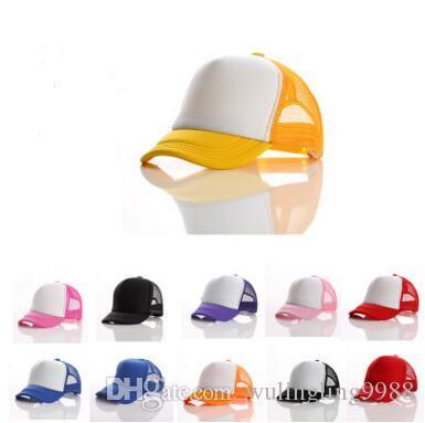 Çocuklar Kamyon Şoförü Kap Örgü Kapaklar Yetişkin Boş Kamyon Şoförü kap Snapback kapaklar Ayarlanabilir kap Şapka müşterinin kendi logosu Kabul sıcak satış ve en kaliteli 20 p