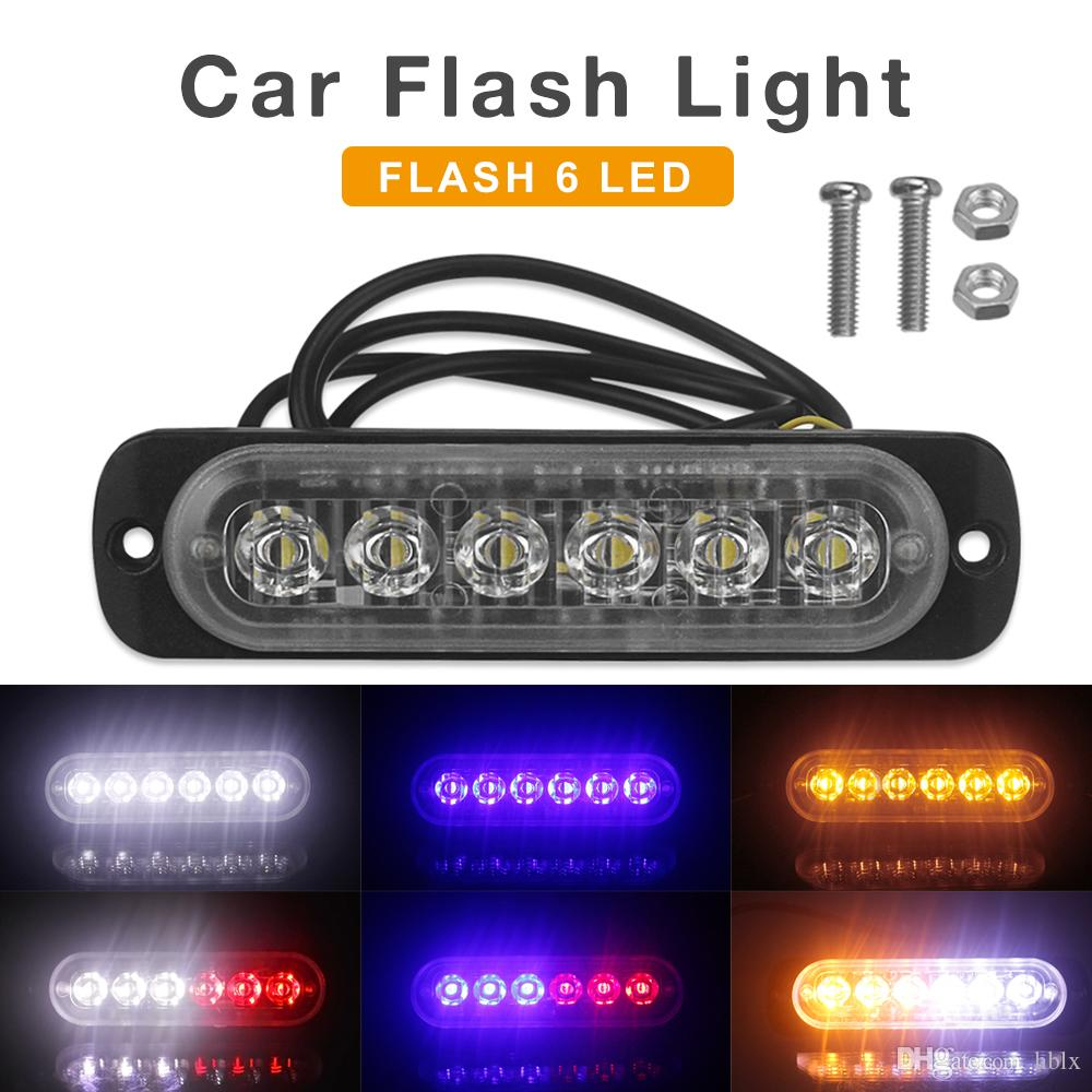 12В / 24В 18Вт 6 LED водонепроницаемый автомобиля грузовика аварийный маяк аварийный проблесковый маячок бар CLT_212