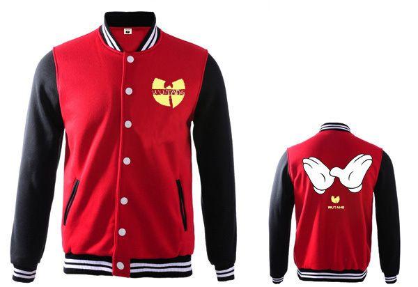 wutang мужчин и женщин бейсбольная куртка осень и зима соответствия цветов бейсбольная куртка хлопок 100% горячей продажи