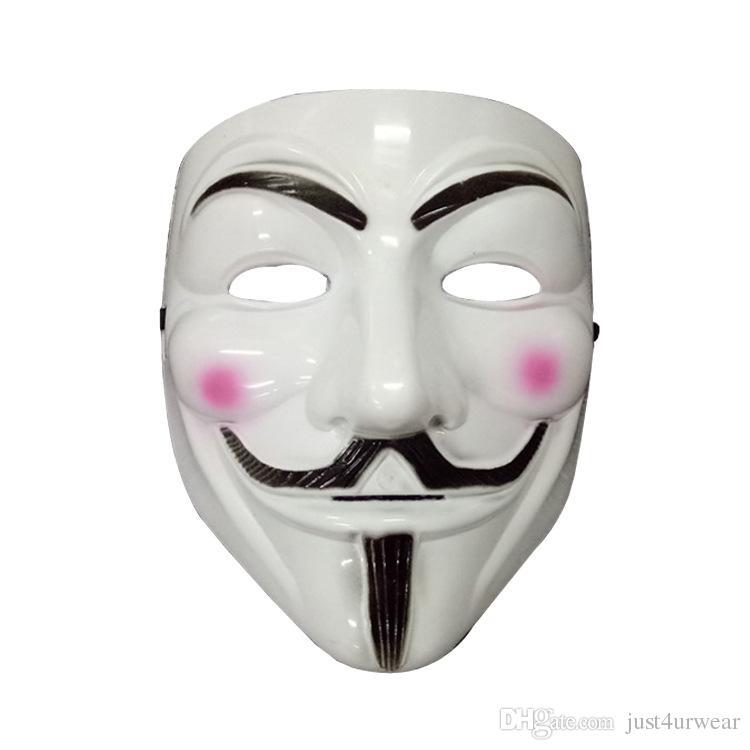 V Form Masken Für Männer Halloween Kostüm Zubehör Vendetta Party Masken Männlichen Klassische Maske Cosplay Herren Weiß Gelb Maske Zubehör