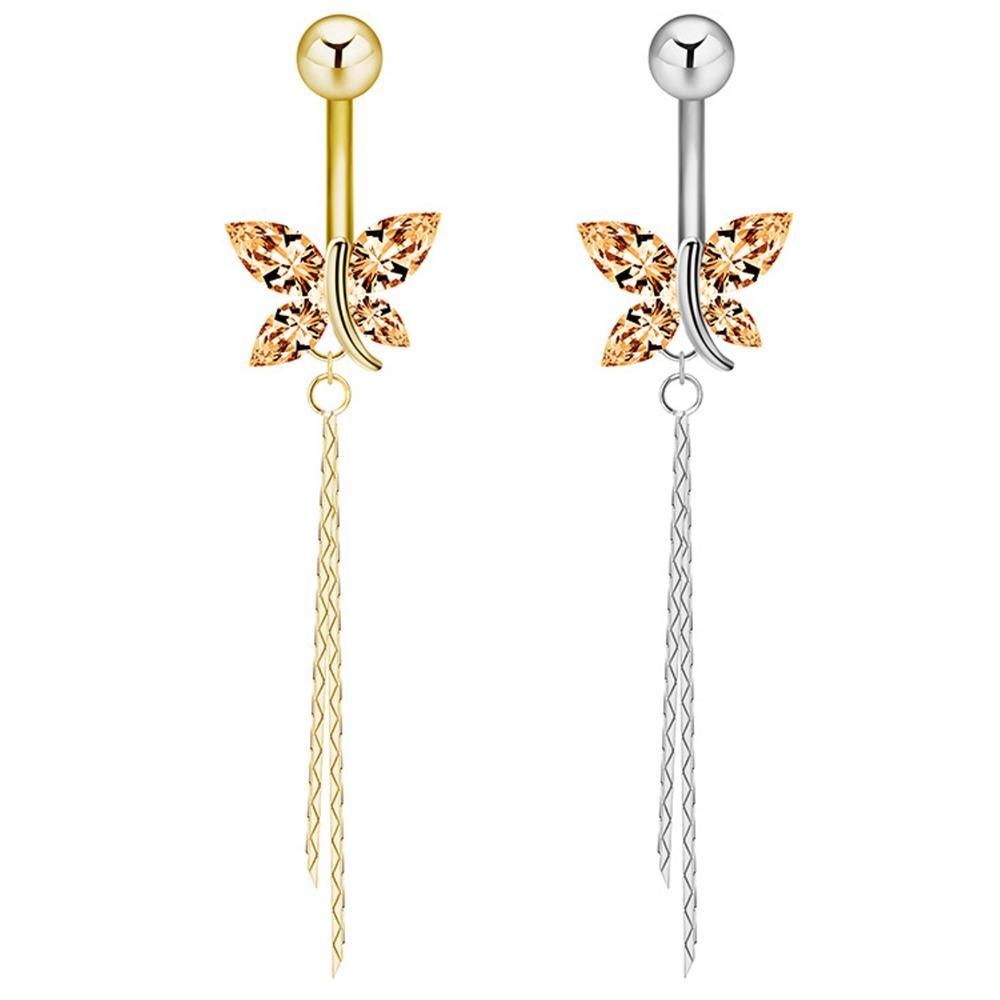 Schmetterling Bauchnabel Ringe Bauch Piercing chirurgischen Stahl Bauchnabel Ringe in Nabel Körperschmuck