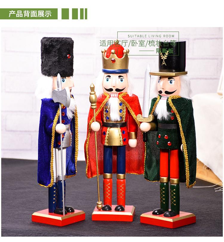 6pcs Mini Retro Holz Nussknacker Puppe Soldat Handcraft Puppet Decor Geschenk