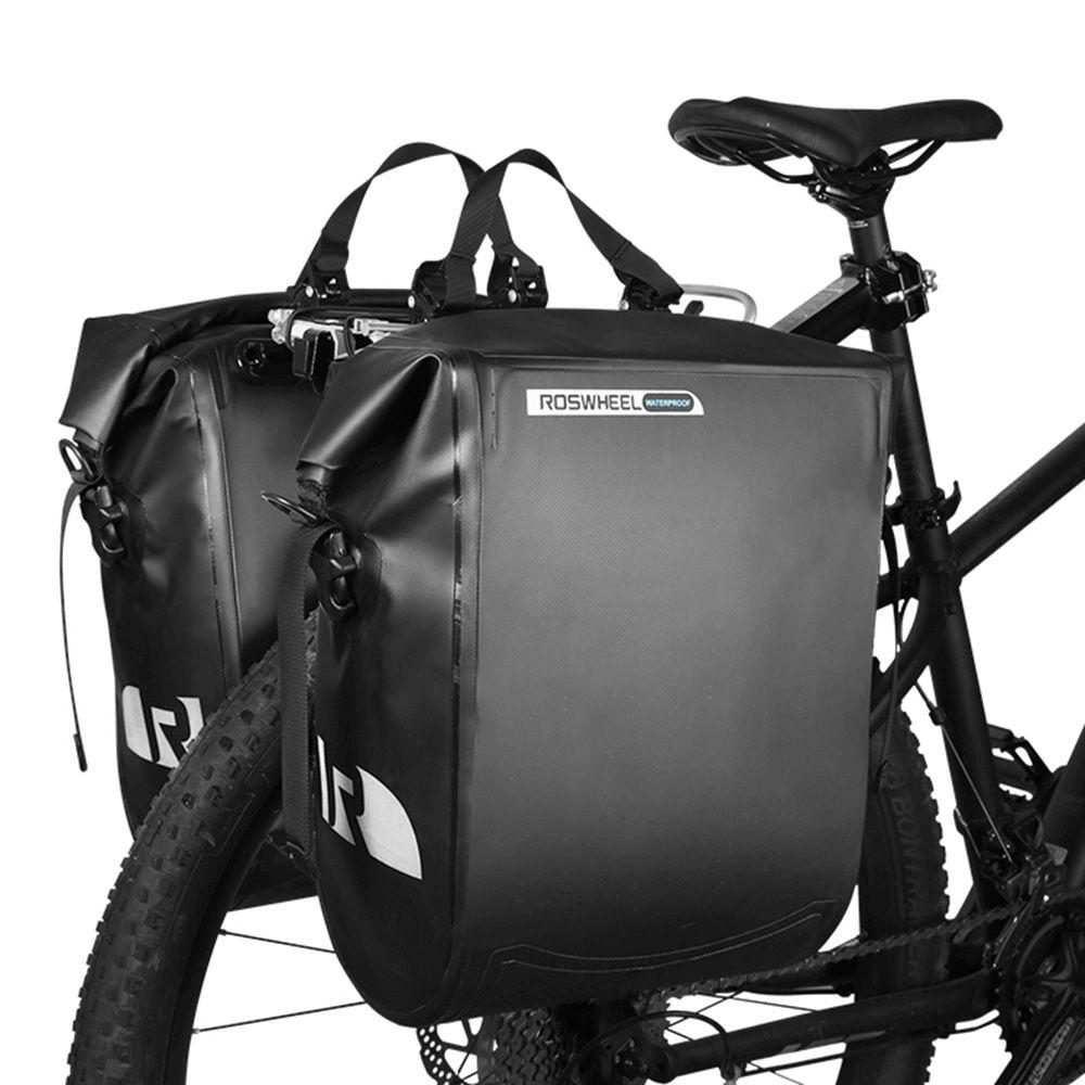Cycling Bike Carbon Fiber Canvas Bicycle Rear Rack Seat Pannier Bag Pouch 20L
