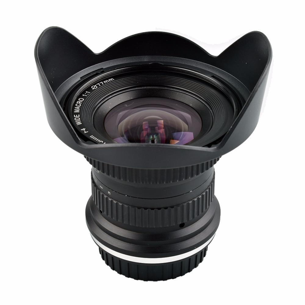 خفض 15mm Lightdow F / 4 F4.0-F32 الترا زاوية واسعة 1: 1 عدسة ماكرو للنيكون الرقمية SLR DSLR كاميرات