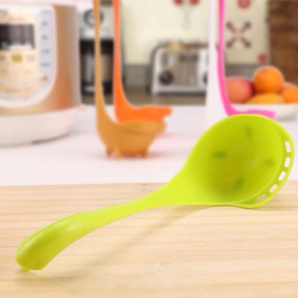 Kunststoff Große Schwan Form Suppenlöffel Schöpflöffel mit Halter