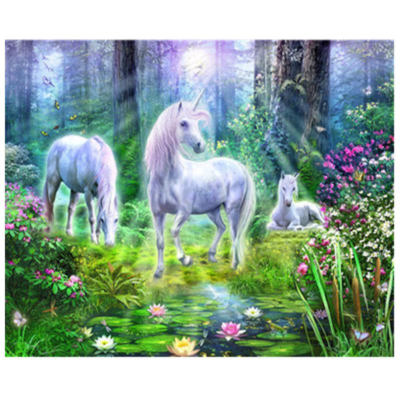 wholesale painting diamond embroidery forest unicorn,flower,diamond painting cross stitch 3d pictures mosaic painting rhinestones art