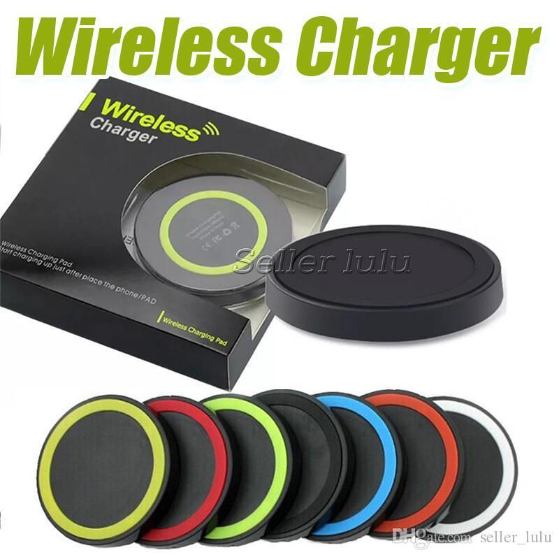 Q5 Universal Sem Fio Charger Pad Portátil Power Band Q1 Padrão Para s6 s7 s8 Iphone Com Caixa De Varejo