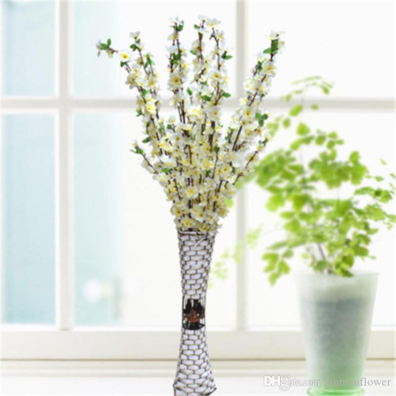 All'ingrosso 65CM 125CM Filiali fiore artificiale di pesca Fiore di ciliegio fiori di seta casa Wedding decorazione floreale