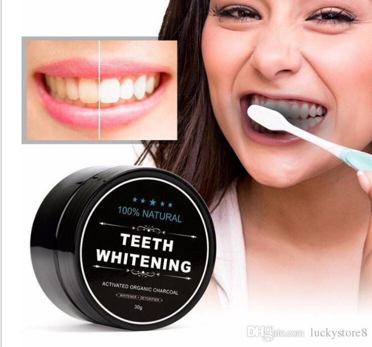 Polvere di sbiancamento dei denti 100% bambù naturale carbone attivo sorriso polvere decontaminazione dente giallo macchia di bambù dentifricio 30g