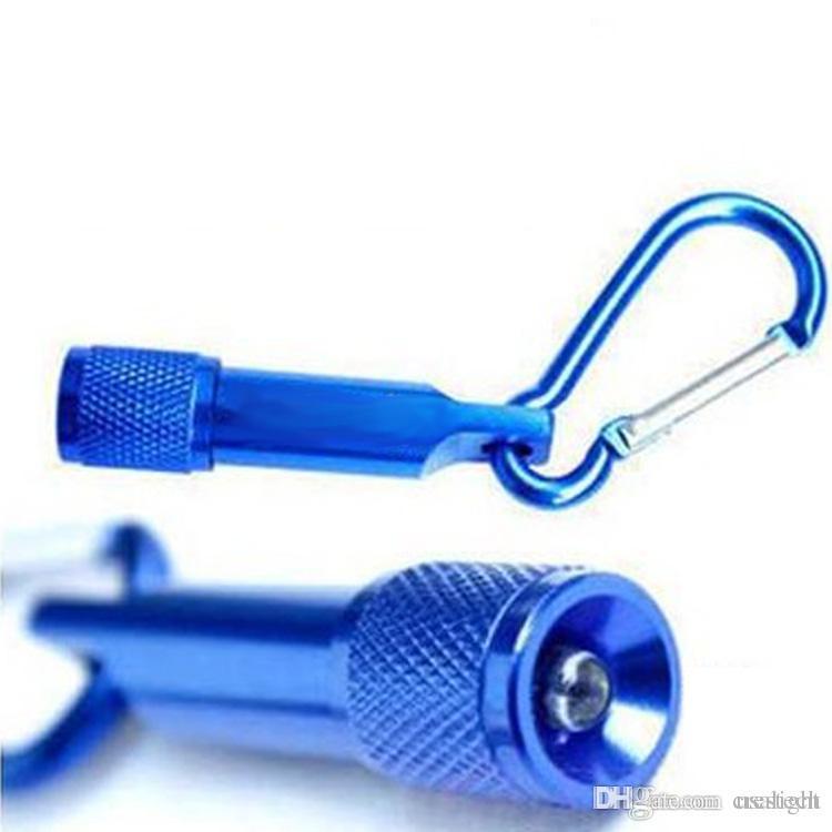 CRESTECH led keychain flashlights Aluminum Alloy body with Carabiner Ring sports mini led flashlights free shipping DHL
