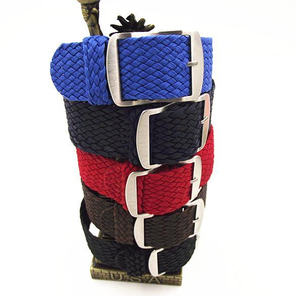 New chegou 1 PCS 20 MM 22mm nylon correias perlon tiras tecer pulseira de relógio faixa de relógio 12 cores disponíveis-PS002