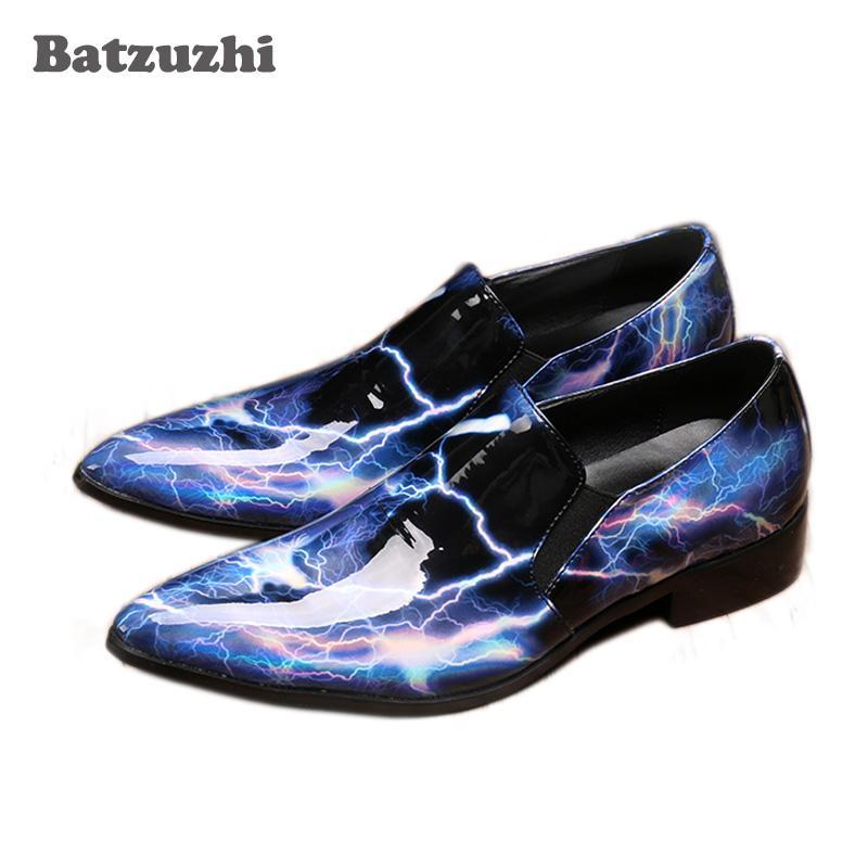 NUOVO 2019 Stile giapponese confortevole scarpe da uomo in pelle verniciata Slip on Business Formals Scarpe oxford per uomo Big size 45 46