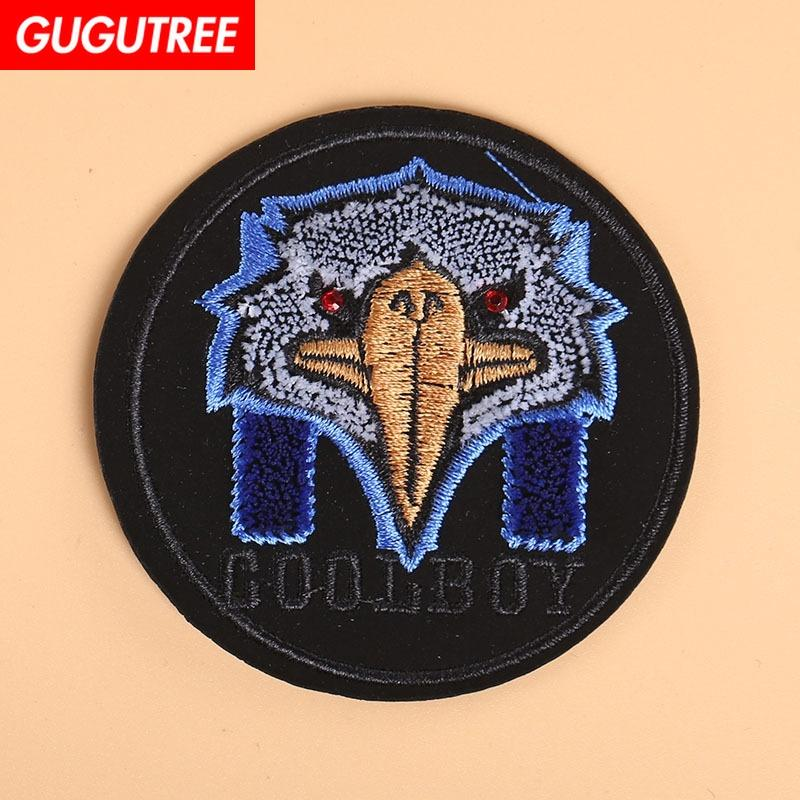 GUGUTREE eagle patches Toothbrush embroidery patches,Sequined Applique Patch for Coat,T-Shirt,hat,bags,Sweater,backpack TP-90