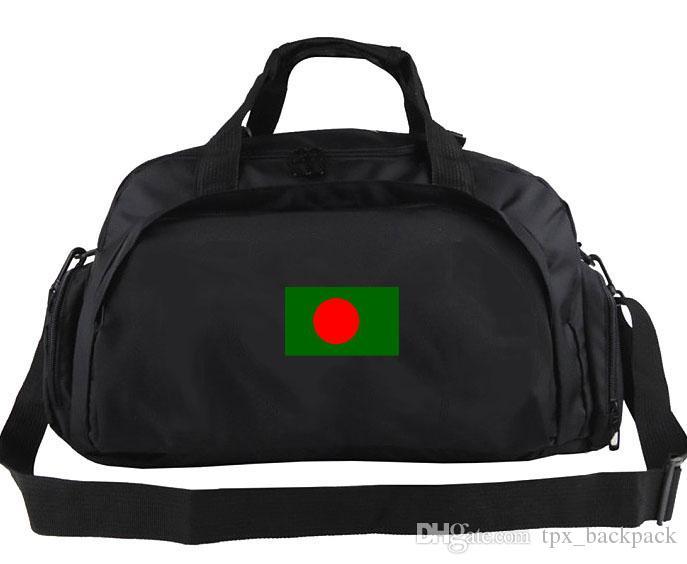 Bangladeş Duffel Çanta Renk Tote Futbol Ülke Banner Sırt Çantası Serin Egzersiz Bagaj Spor Omuz Duffle Bayrağı Sling Paketi