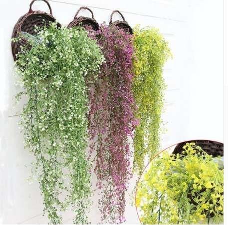 인공 꽃 문자열 발렌타인 데이 웨딩 파티 인공 교수형 식물 냄비 바구니 실내 옥외 정원 장식