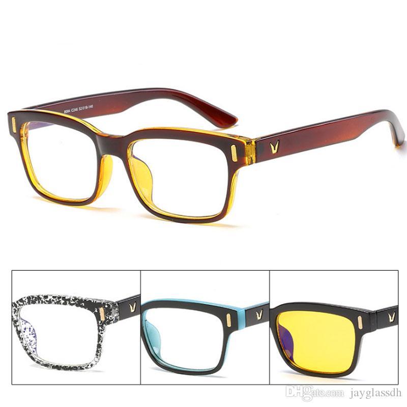 El diseñador de la marca New Anti Blue Light Blocking Filter reduce la tensión digital del ojo Clear Regular Computer Gaming SleepingBetter Glasses