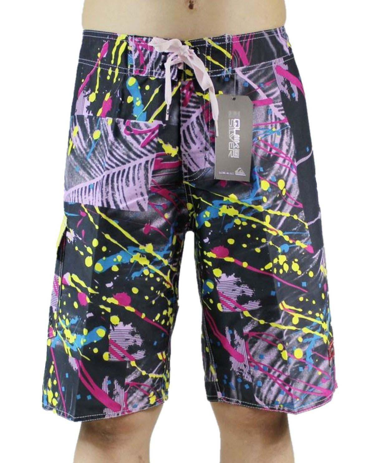 High Quality Polyester Relaxed Bermudas Shorts Mens Board Shorts Beachshorts Swimming Trunks Swimwear Swim Trunks Quick Dry Surf Pants NEW