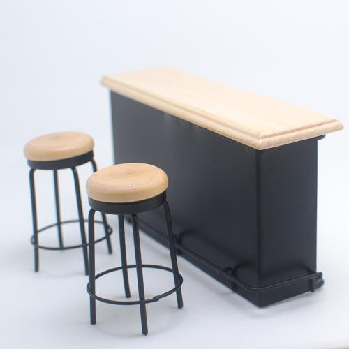 Enjoyable Bar Furniture Table 2 Chairs 1 12 Dollhouse Miniature Cheap Barbie Doll House Small Wooden Dolls House From Zongheng231 8 05 Dhgate Com Pabps2019 Chair Design Images Pabps2019Com