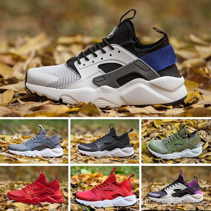 2018 Nike Air Huarache 4 Running shoes 1.0 Rosa de Ouro Huarache1 Clássico Triplo Branco Preto Huarache4 ouro homens mulheres Huarache Sapatos Huaraches esportes Tênis Tênis