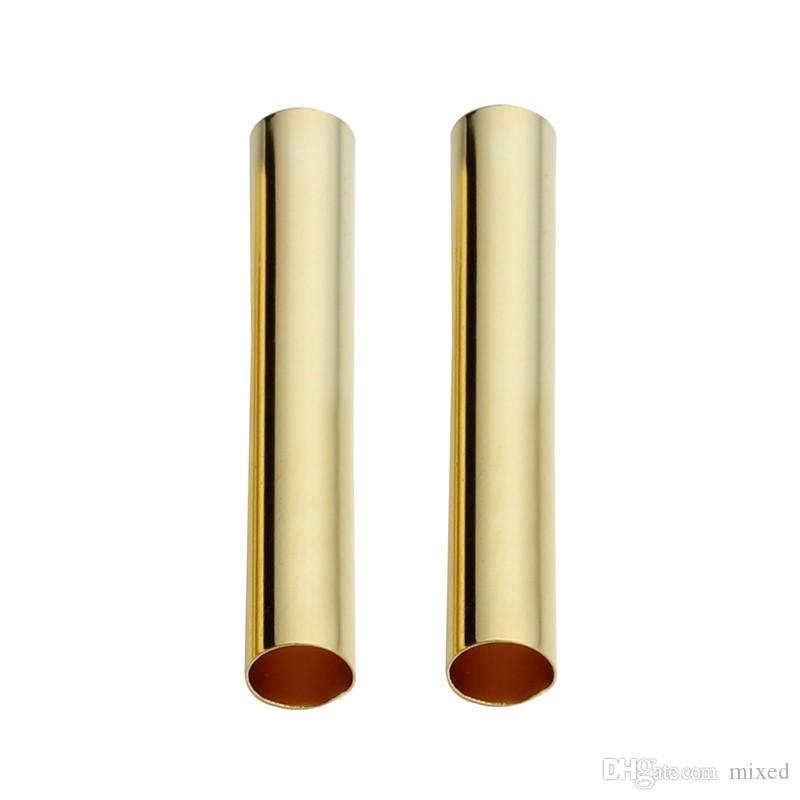 100pcs / lot Or / Rhodium Couleur Cuivre Spacer Tube Perles Fit Diamètre 4mm Cordon Collier Bracelet Accessoires Fabrication De Bijoux F3993