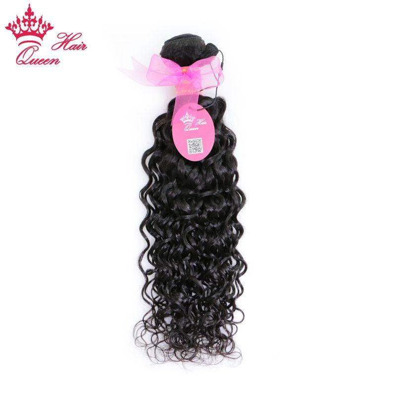 """Queen Hair 100% Brasilianisches jungfräuliches menschliches Haar Natürliche Welle Wasserwebart Haarverlängerungen 100g / pc 1pc 8 """"-28"""" DHL Schneller Versand"""