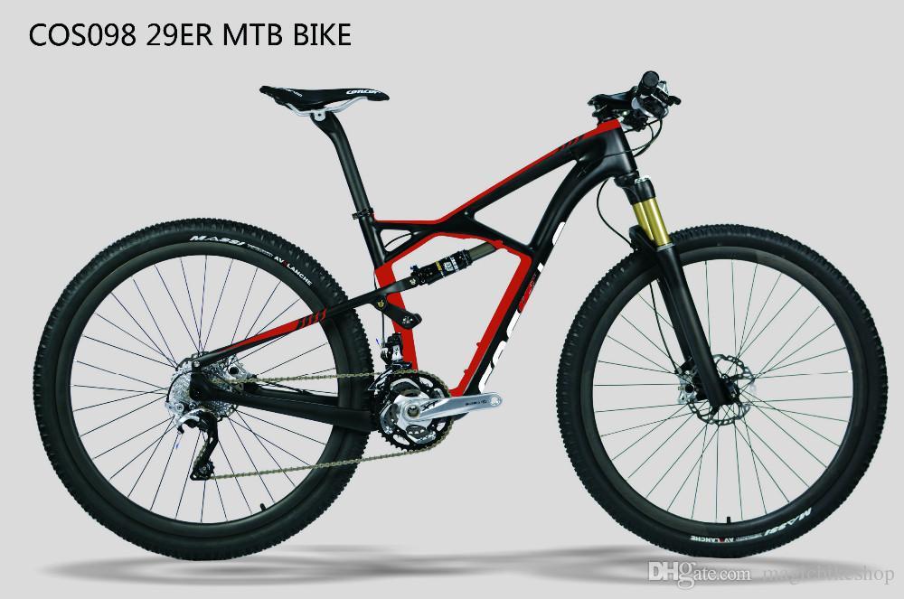 COS098 proveedor de china barato barato suspensión de fibra de carbono bicicleta de montaña MTB bicicletas accesorios partes marco 29er envío gratis