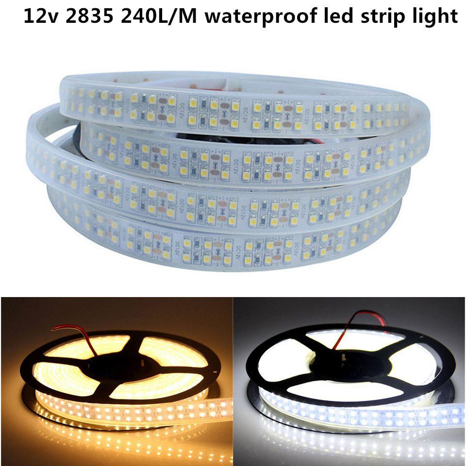 5m DC12V wasserdichter LED-Streifen 2835 SMD Flexible Light Double Line 240Led / m, 5m / Rolle, Weiß, Warmweiß, RGB,