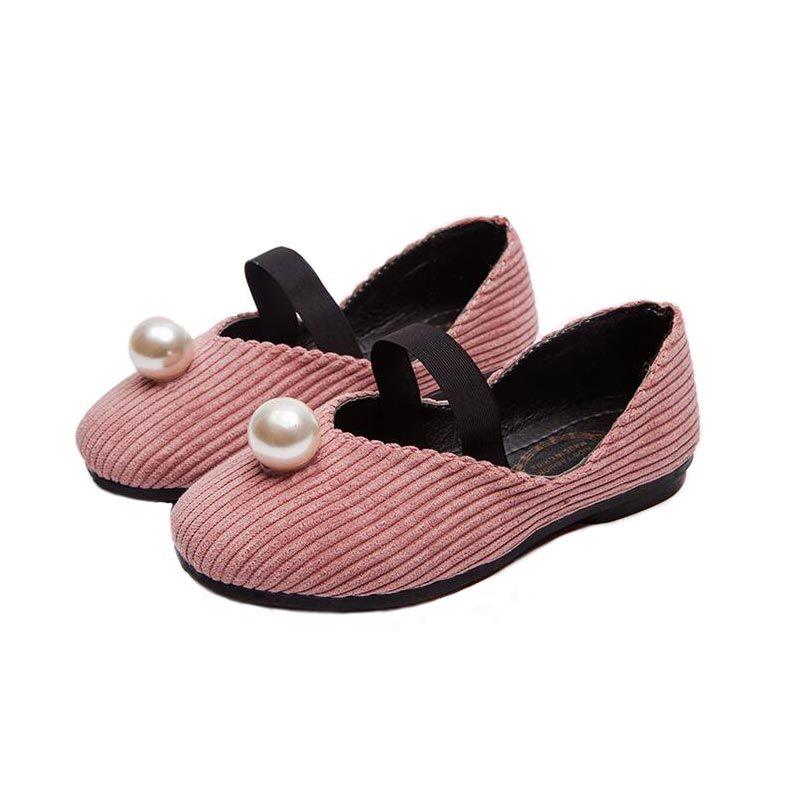 Дети Повседневная Обувь Девушка Мода Жемчужина Дизайн Принцесса Обувь Девушки Танцевальная Обувь Дети Студент Школа Skate Обувь #23