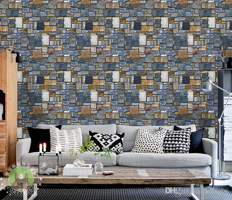 Vintage 3d Wallpaper Brick Stone Rustic Effect Self Adhesive Wall Stickers Diy Home Decor Waterproof Mould Proof Pvc Hd Hd Wallpapers Hd High Quality