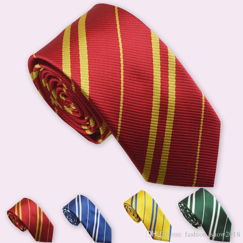 Necktie Ties Clothing Accessories Borboleta Necktie Ravenclaw Hufflepuff Necktie Hogwarts Cosplay Costumes Stripe Ties for Man Women
