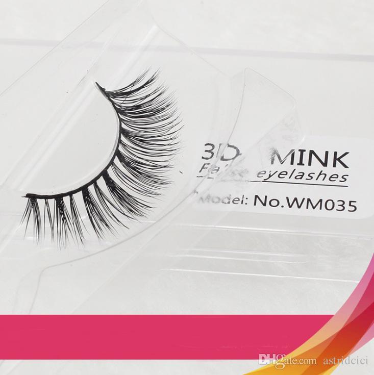 Luxo 1 pares Mink grosso cílios postiços preto longo 3d vison extensão dos cílios de cabelo profissional Falso cílios maquiagem Kit Euro Eye maquiagem