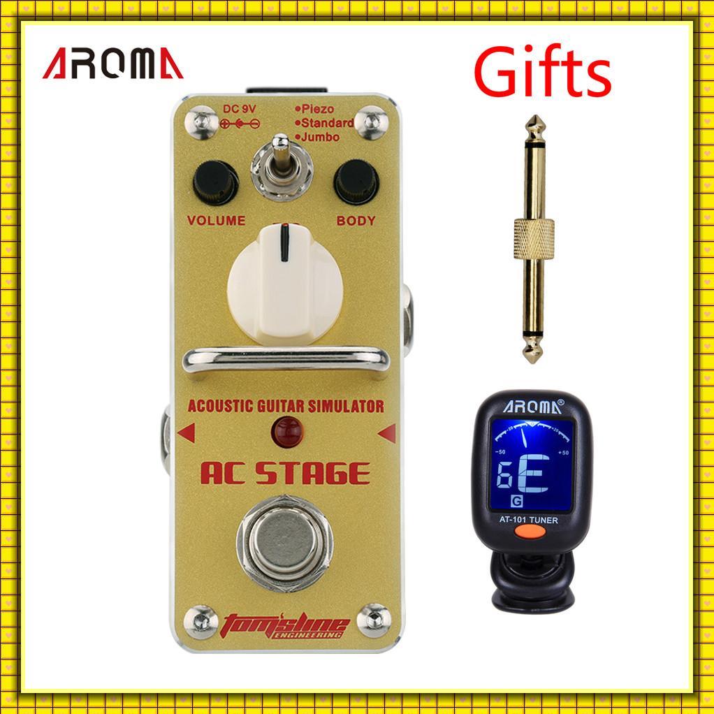 AROMA AAS-3 AC FASE Guitarra Acústica Simulador Mini Analógico True Bypass Pedal de Efectos para Guitarra Eléctrica--Gifts