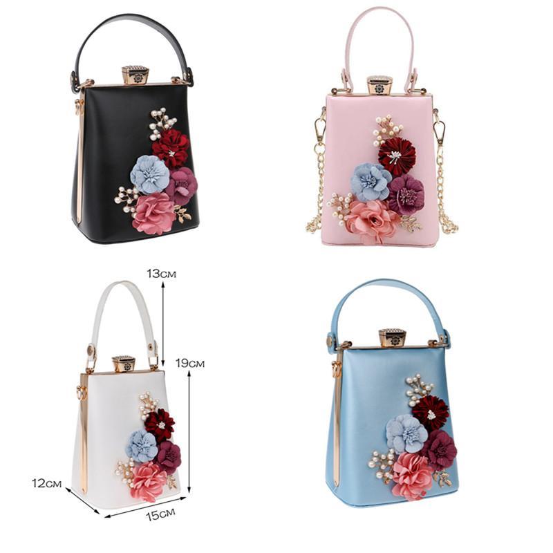 SEKUSA новое прибытие аппликации женщины сцепления цветок из бисера вечерние сумки цепи плеча сумки для партии вечерняя сумка