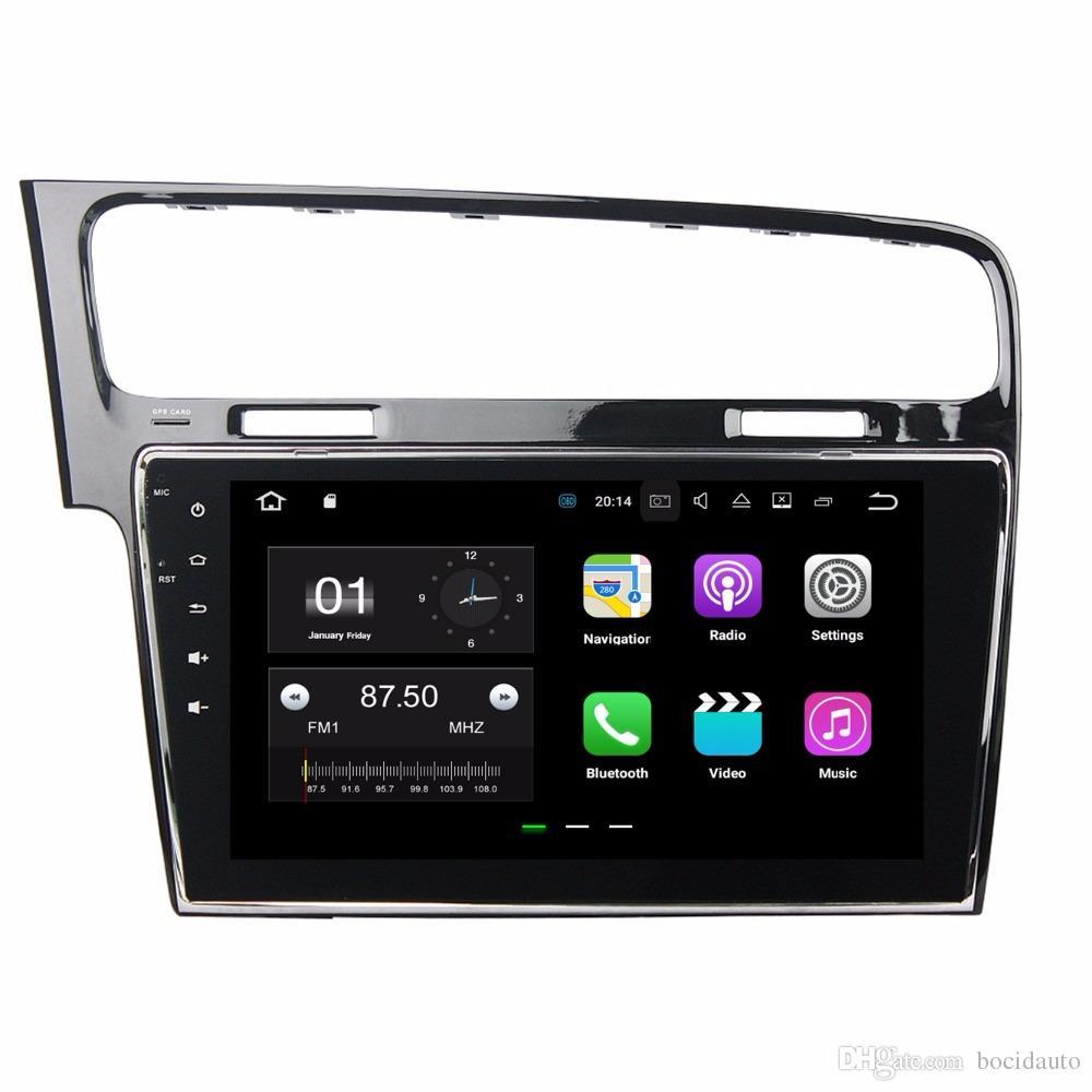"""Android 7.1 Dört Çekirdekli 10.1 """"Araba Radyo dvd GPS Multimedya Kafa Ünitesi Araba DVD VW Volkswagen Golf 7 2013 2014 2015 WIFI Ayna bağlantı"""