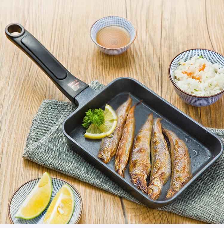 17x12 Cm Japanese Tamagoyaki Omelette Pan Non-Itick uso general para cocina de gas y de inducción sartenes panqueque de huevo